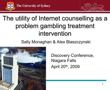 The utility of Internet counselling as a problem gambling treatment ...