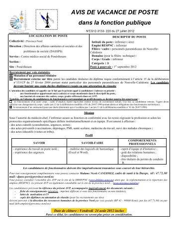 220 _MS_ PVN DASSPS-Infirmier CMS de ... - Province Nord