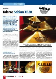 Sabian, Seria XS 20 - Music Info