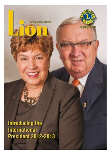 Introducing the International President 2012-2013 - Lions Clubs ...