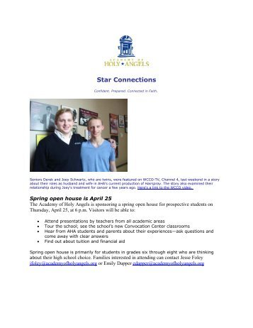 Star Connections - The Academy of Holy Angels