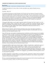o desenvolvimento da linguagem infantil - Drb-assessoria.com.br