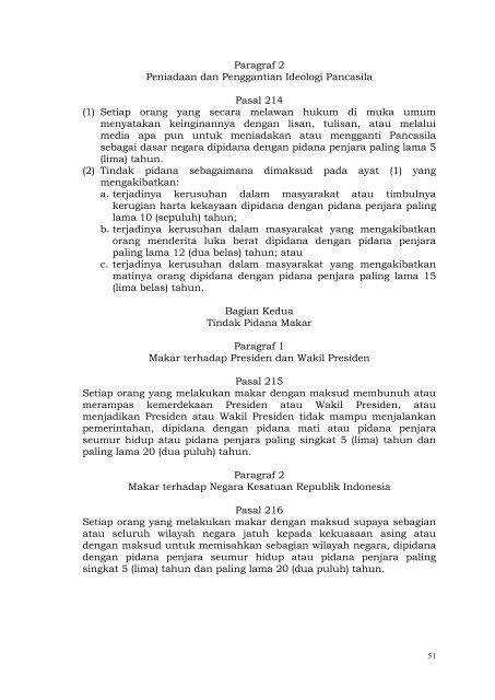 RUU KUHP Versi 2012 - Elsam