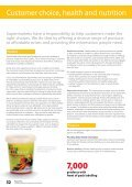 Customer choice, health and nutrition and Community impact - Tesco - Page 3