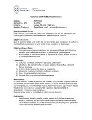 Cultura e Identidad Latinoamericana Código: NCR1045 Semestre ...