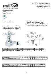 Download Datasheet - Sussex Plumbing Supplies
