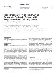 Preoperative CYFRA 21-1 and CEA as Prognostic Factors in ...