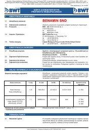 MSDS-BWT Benamin SND.pub (tylko-do-odczytu) - BWT Polska