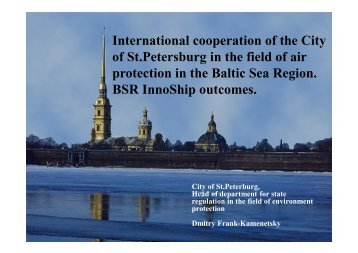 International cooperation of the City of St.Petersburg in the field of ...