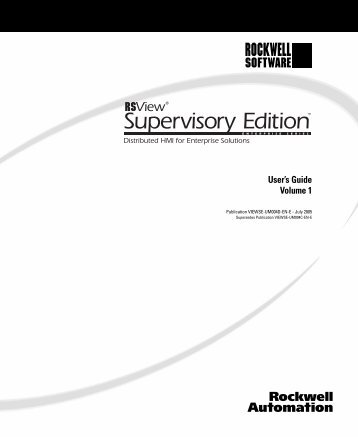 RSView Supervisory Edition Installation Guide