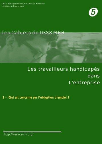Les Cahiers du DESS MRH - e-RH