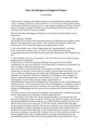 Über den Bergbau in Köppern/Taunus - Friedrich Rolle
