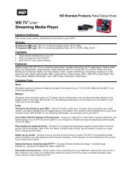 WD TV® Live™ Streaming Media Player