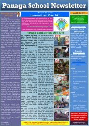 Download Newsletter May 2011 Issue 25 - Panaga School
