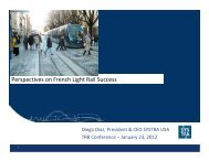 Perspectives on French Light Rail Success - Advanced Public ...