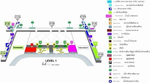 Suvarnabhumi Airport Map Pdf Passenger Terminal Building Map (PDF)   Suvarnabhumi Airport