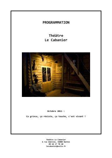 PROGRAMMATION Théâtre Le Cabanier - revue-spectacles.com