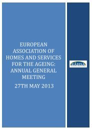EUROPEAN ASSOCIATION FOR HOMES AND SERVICES ... - iahsa