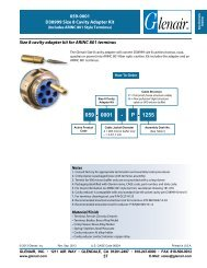 059-0001 Size 8 cavity adapter for ARINC 801 terminus - Glenair, Inc.