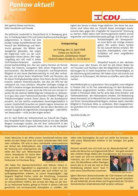 Pankow aktuell April 2008 - CDU Pankow