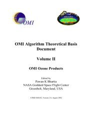 OMI Algorithm Theoretical Basis Document Volume II - NASA's Earth ...
