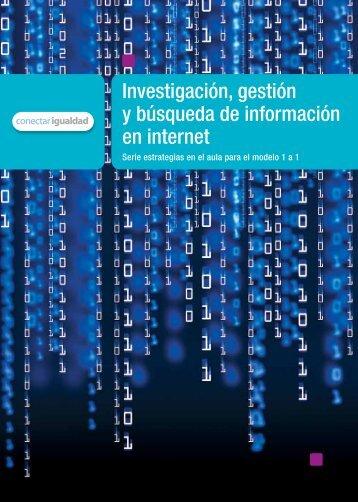 Investigación, gestión y búsqueda de información en internet