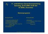 jahresabschluss 2005 budget 2006 - Verein Freunde der Achal ...