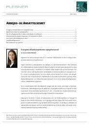ARBEJDS- OG ANSÆTTELSESRET - Plesner