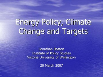 Climate Change - Targets.pdf - Institute for Governance and Policy ...