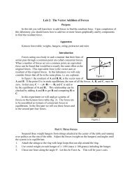 Lab 2: The Vector Addition of Forces - Physics