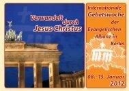 Verwandelt durch Jesus Christus - Evangelische Allianz Berlin