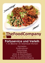 Partyservice und Verleih - The Food Company