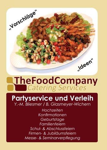 Partyservice und Verleih - The Food Company