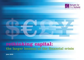 rethinking capital: - Institute for Social Banking