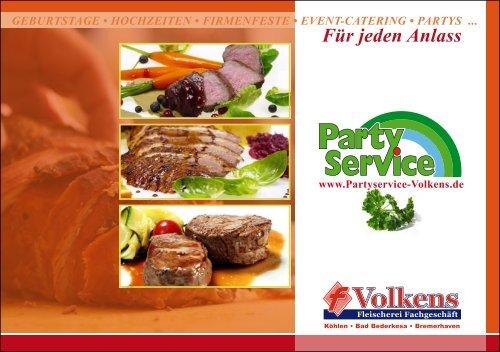 Für jeden Anlass - Partyservice Fleischerei Volkens