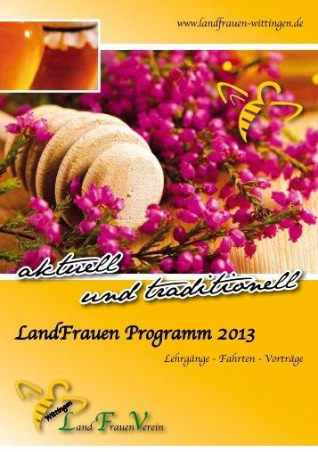 LandFrauen Programm 2013 - LandFrauenverein Wittingen
