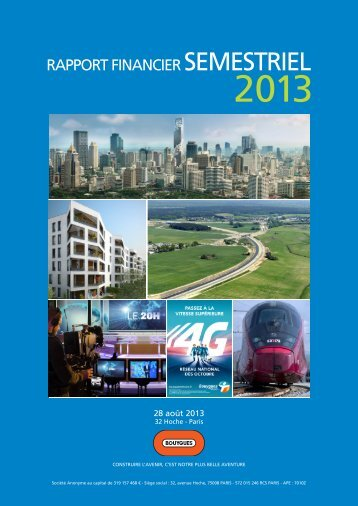 Le rapport financier semestriel 2013 - Bouygues