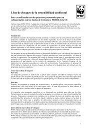 Lista de chequeo de la sostenibilidad ambiental - WWF