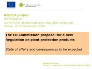 The EU Commission proposal for a new Regulation on ... - REBECA