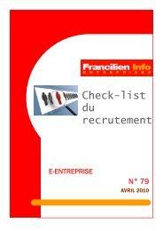 Check-list du recrutement - Ordre des experts-comptables de Paris ...