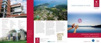 brochure - University of Victoria