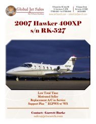 2007 Hawker 400XP s/n RK-527 - Business Air Today