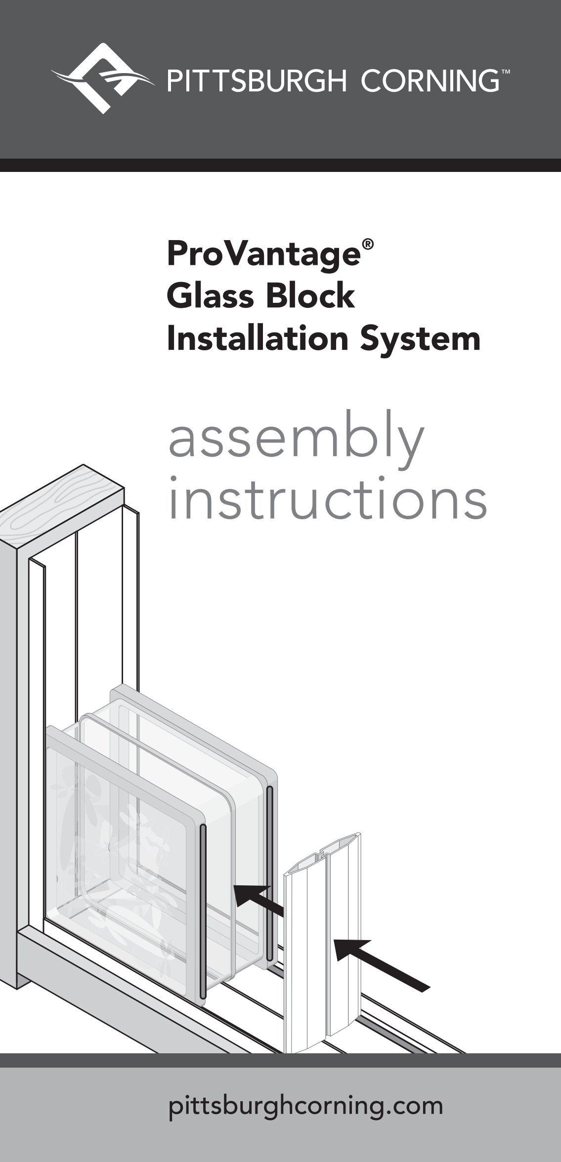 Provantage glass block installation system pittsburgh corning.