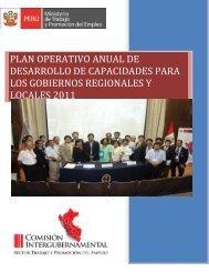 plan operativo anual de desarrollo de capacidades para los ...