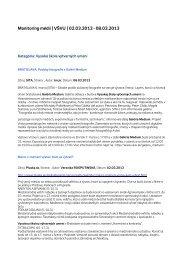 Monitoring médií 2. – 8. 3. 2013 - Vysoká škola výtvarných umení