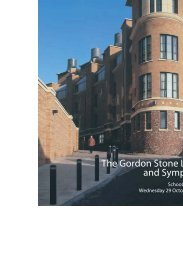 The Gordon Stone Lecture and Symposium - Inorganic and ...