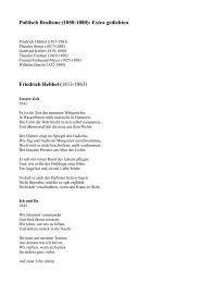 Poëtisch Realisme (1850-1880): Extra gedichten Friedrich Hebbel ...