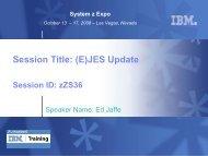 Session Title: (E)JES Update - Value-4IT