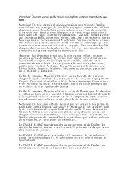 une lettre au premier ministre Jean Charest - Le Devoir