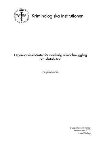 D-uppsats riktig text… - Kriminologiska institutionen - Stockholms ...
